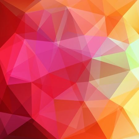 Polygonal background. Can be used in cover design, book design, website background. illustration. Yellow, pink, red colors.