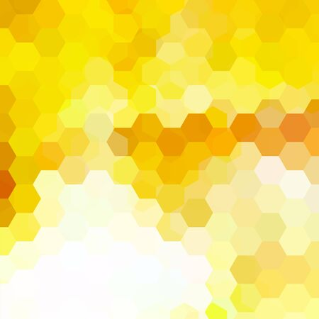 Abstract hexagons background. Yellow geometric illustration. Creative design template. Illustration