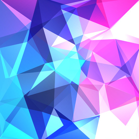 halftone cover: Abstract background consisting of blue, pink, white triangles. Geometric design for business presentations or web template