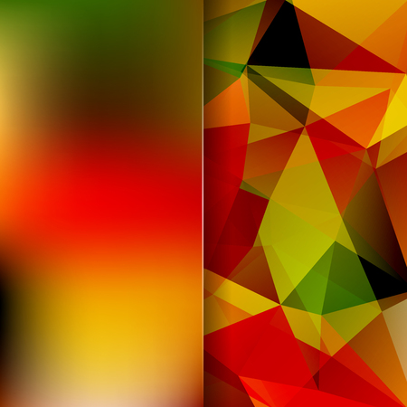Abstract mosaic background. Blur background. Triangle geometric background. Design elements. illustration. Yellow, green, red colors.