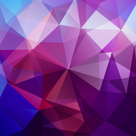 Geometric pattern, polygon triangles background in purple, blue, white tones. Illustration pattern