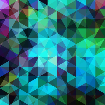 Background of green, blue geometric shapes. Abstract triangle geometrical background. Mosaic pattern. Vector EPS 10. Vector illustration Illustration