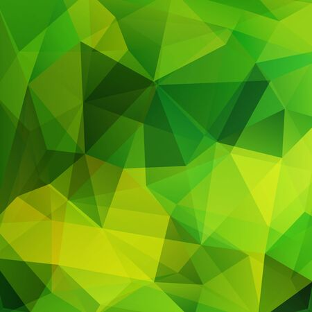 Polygonal green vector background. Can be used in cover design, book design, website background. Vector illustration