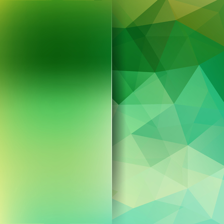 Abstract green mosaic background. Blur background. Triangle geometric background. Design elements. Vector illustration