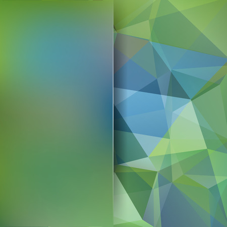Abstract geometric style green background. Business background Blur background with glass. Vector blue illustration