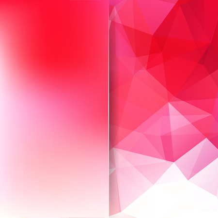 Abstract mosaic background. Blur background. Triangle geometric background. Design elements. Vector illustration. Red, white colors.