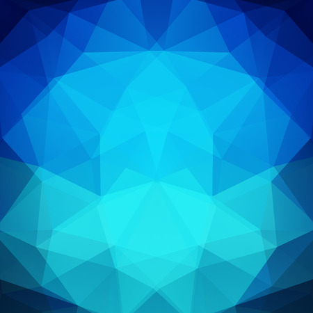 Abstract blue mosaic background. Triangle geometric background. Design elements. Vector illustration