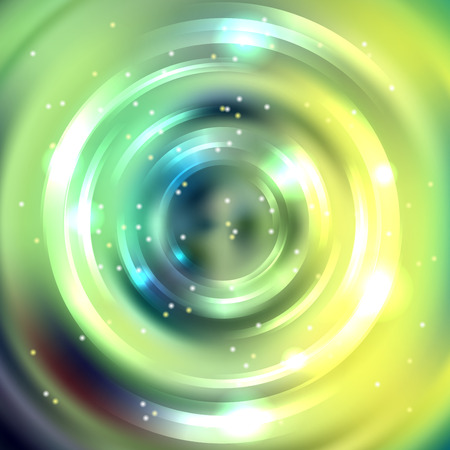 green swirl: Abstract background with luminous swirling backdrop. Shiny swirl background. Intersection curves. Green, yellow colors. Illustration