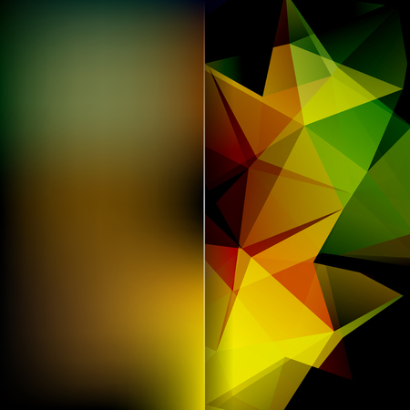 Abstract polygonal vector background. Colorful geometric vector illustration. Creative design template. Abstract vector background for use in design. Yellow, brown, green, orange, black colors.