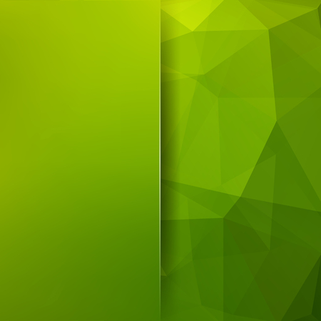 Geometric pattern, polygon triangles vector background in green tones. Blur background with glass. Illustration pattern Illustration