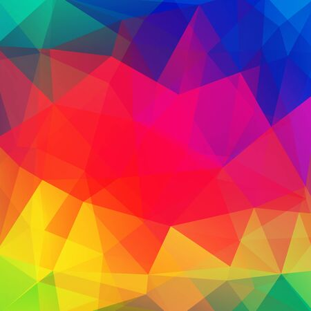 Abstract polygonal vector background. Colorful geometric vector illustration. Creative design template. Red, yellow, orange, green, pink, blue colors.
