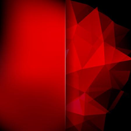 Abstract polygonal vector background. Dark red geometric vector illustration. Creative design template. Abstract vector background for use in design Illustration