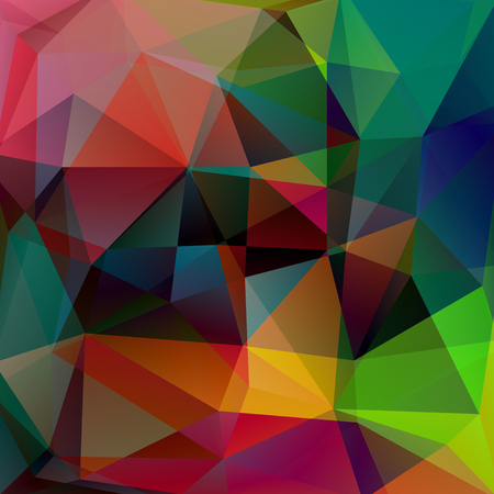Abstract polygonal vector background. Colorful geometric vector illustration. Creative design template. Red, green, brown, blue colors.