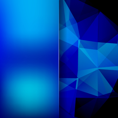 Background of dark blue geometric shapes. Blur background with glass. Colorful mosaic pattern. Vector EPS 10. Vector illustration