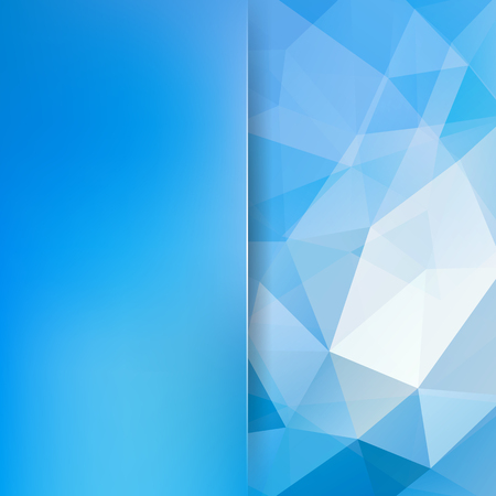 Geometric pattern, polygon triangles vector background in blue tones. Blur background with glass. Illustration pattern