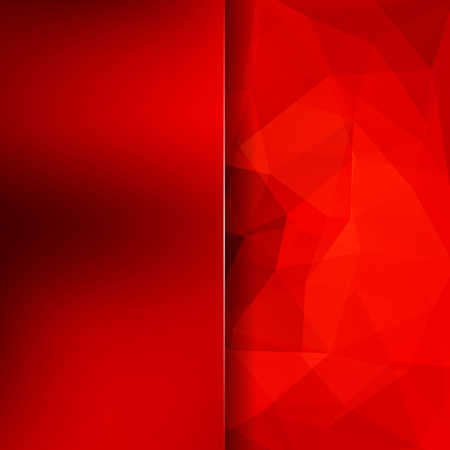 Abstract background consisting of red triangles. Geometric design for business presentations or web template banner flyer. Vector illustration Illustration