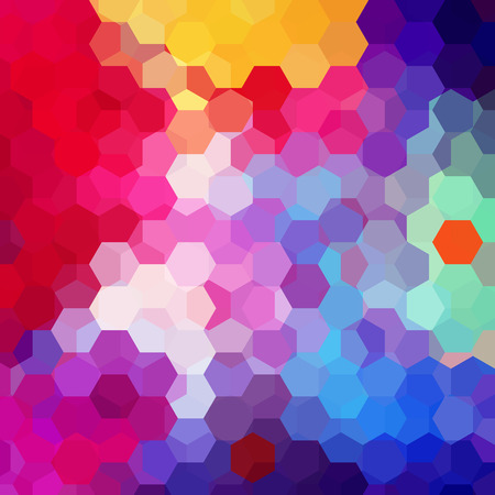 Geometric pattern, vector background with hexagons in blue tones. Illustration