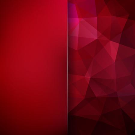 Polygonal vector background. Blur background. Can be used in cover design, book design, website background. Vector illustration. Dark red colors. Illustration