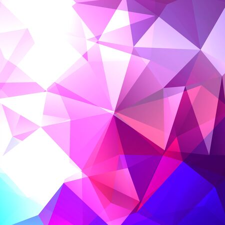 deep pink: Polygonal vector background. Can be used in cover design, book design, website background. Vector illustration. Pink, blue, white colors.