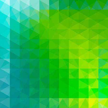 Triangle vector background. Can be used in cover design, book design, website background. Vector illustration. Green, blue colors. Illustration