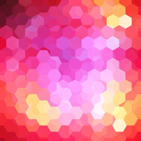 deep pink: Background of red, pink, yellow geometric shapes. Colorful mosaic pattern.