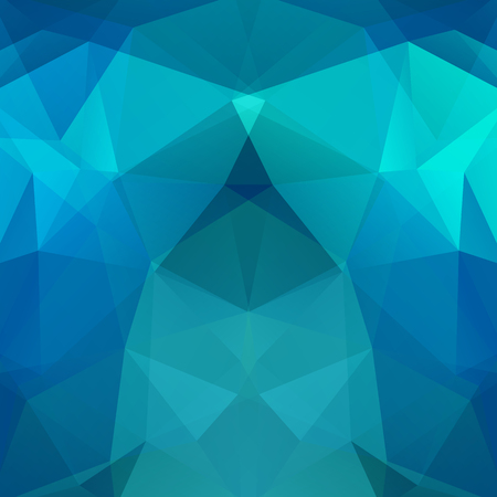 reflection in mirror: Geometric pattern, polygon triangles vector background in blue tones. Illustration pattern