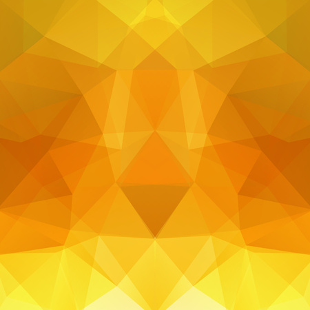 Abstract background consisting of yellow, orange triangles. Geometric design for business presentations or web template banner flyer. Vector illustration