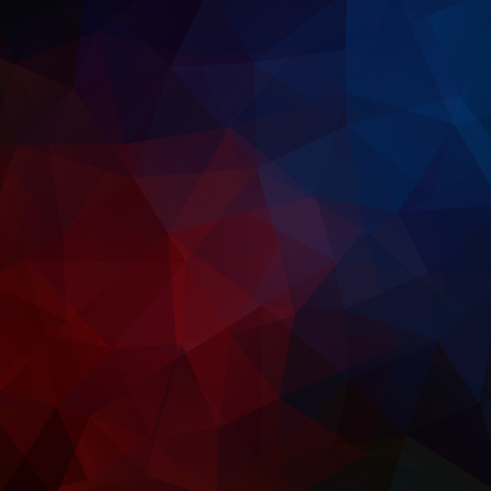 Abstract background consisting of red, blue triangles. Geometric design for business presentations or web template banner flyer. Vector illustration Illustration
