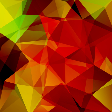Background Red, orange geometric shapes. Mosaic pattern. Vector EPS 10. Vector illustration Illustration