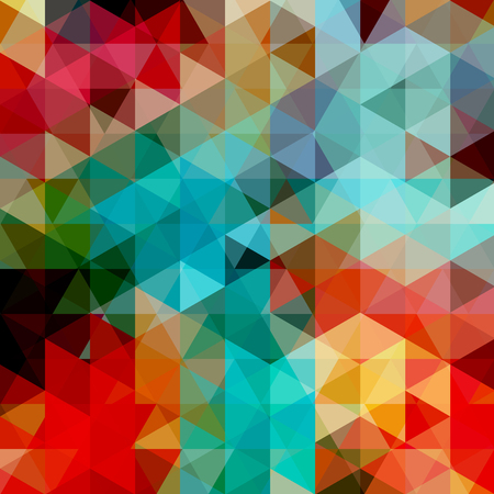 Abstract background consisting of red, blue, green triangles. Geometric design for business presentations or web template banner flyer. Vector illustration Ilustrace