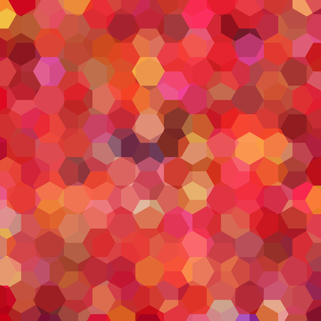 Vector background with red, orange hexagons. Can be used in cover design, book design, website background. Vector illustration