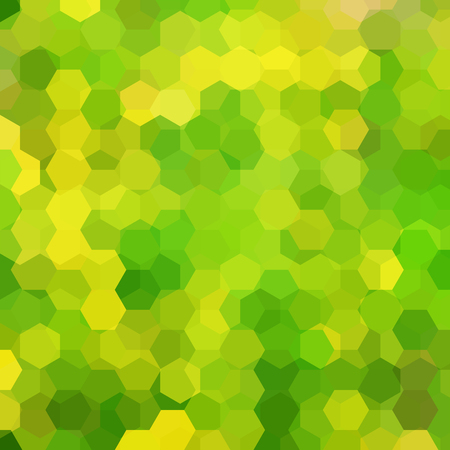 Abstract background consisting of green, yellow hexagons. Geometric design for business presentations or web template banner flyer. Vector illustration