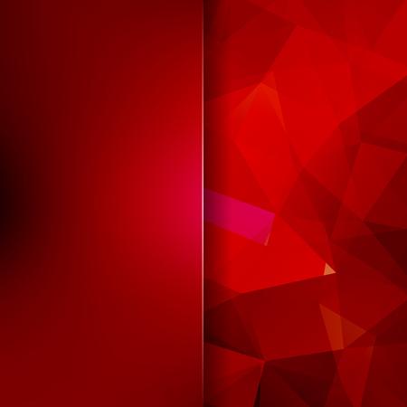 Abstract mosaic background. Blur background. Red triangle geometric background. Design elements. Vector illustration