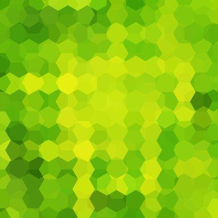 Abstract hexagons vector background. Green geometric vector illustration. Creative design template.