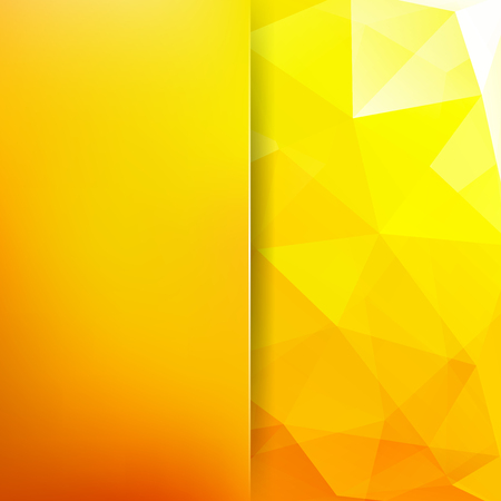Geometric pattern, polygon triangles vector background in yellow, orange tones. Blur background with glass. Illustration pattern Illustration