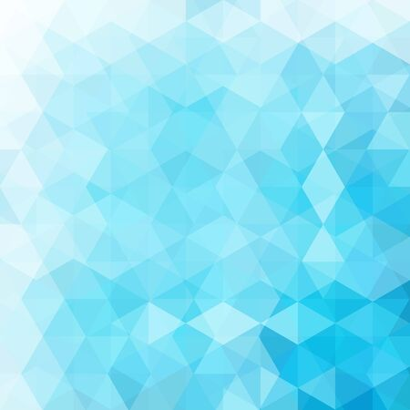 Background made of blue, white triangles. Square composition with geometric shapes. Eps 10 Illustration