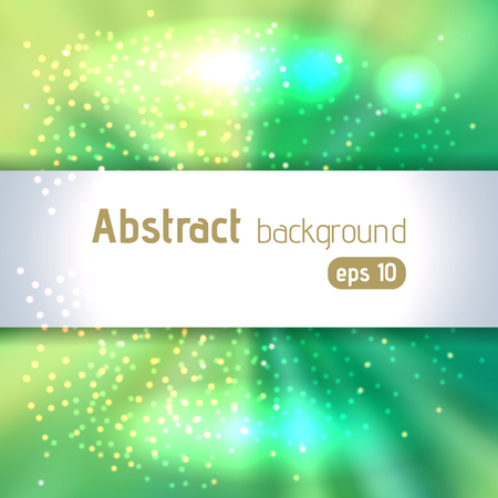 blinding: Background with green light rays. Abstract background. Vector illustration