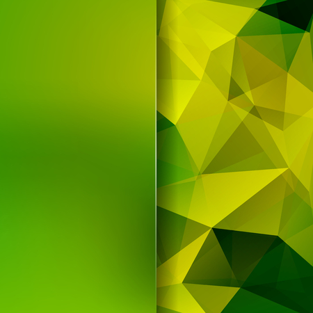Abstract polygonal vector background. green geometric vector illustration. Creative design template. Abstract vector background for use in design Illustration