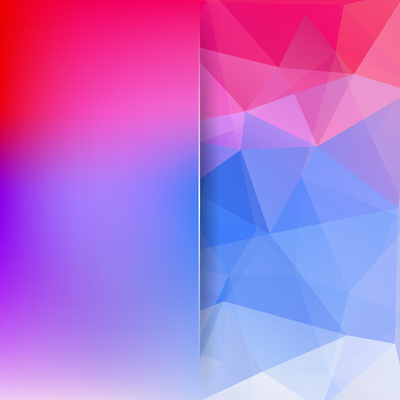 Abstract geometric style pink background. Blue business background Blur background with glass. Vector illustration