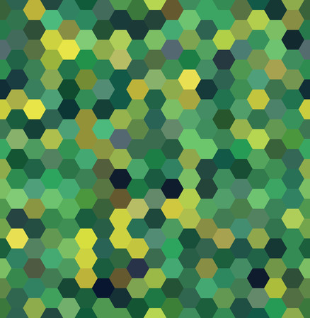 dimensions: Vector background with green hexagons. Can be used for printing onto fabric and paper or decoration.