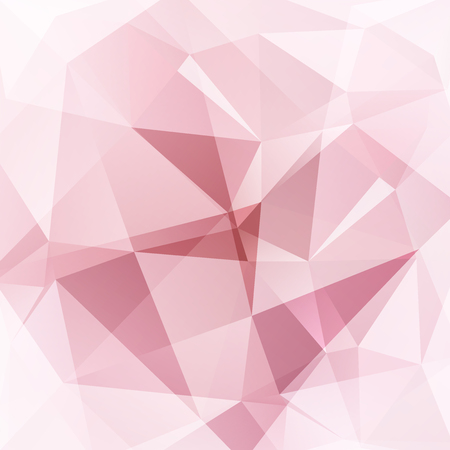 Abstract polygonal vector background. Pastel pink geometric vector illustration. Creative design template.
