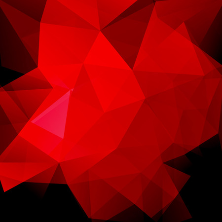 Background made of red, black triangles. Square composition with geometric shapes. Eps 10 Illustration