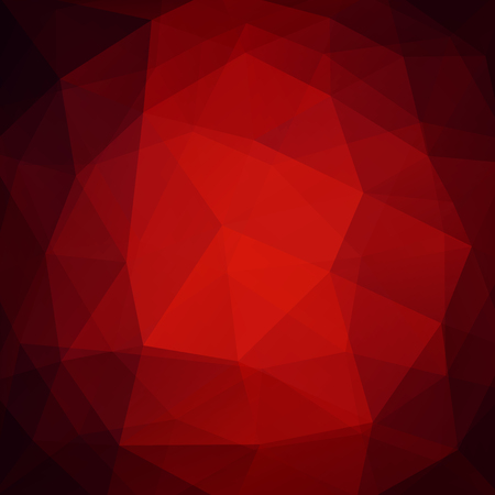 Geometric pattern, polygon triangles vector background in red tones. Illustration pattern