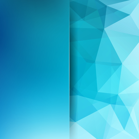 Abstract background consisting of blue triangles. Geometric design for business presentations or web template banne.