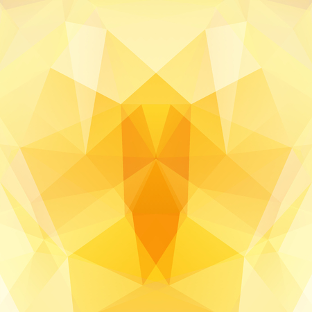 dimensions: Abstract mosaic background. Triangle geometric background. Design elements. Vector illustration. Yellow, orange colors. Illustration