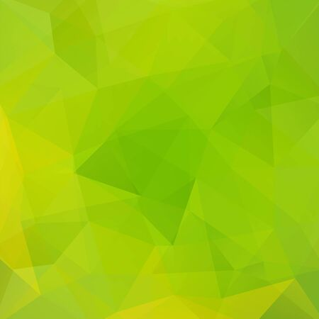 low perspective: Abstract background consisting of green, yellow triangles. Geometric design for business presentations or web template banner flyer. Vector illustration
