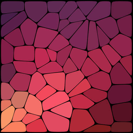 Abstract purple mosaic pattern. Abstract background consisting of elements of different shapes arranged in a mosaic style. Vector illustration.