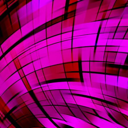 Vector illustration of pink, purple abstract background with blurred light curved lines. Vector illustration. Stock Photo