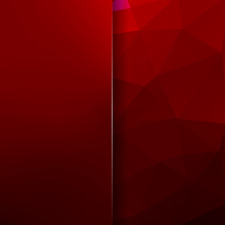Background made of dark red triangles. Square composition with geometric shapes and blur element. Eps 10 Illustration