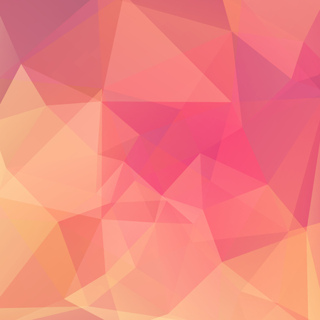 Abstract background consisting of pink, orange triangles.